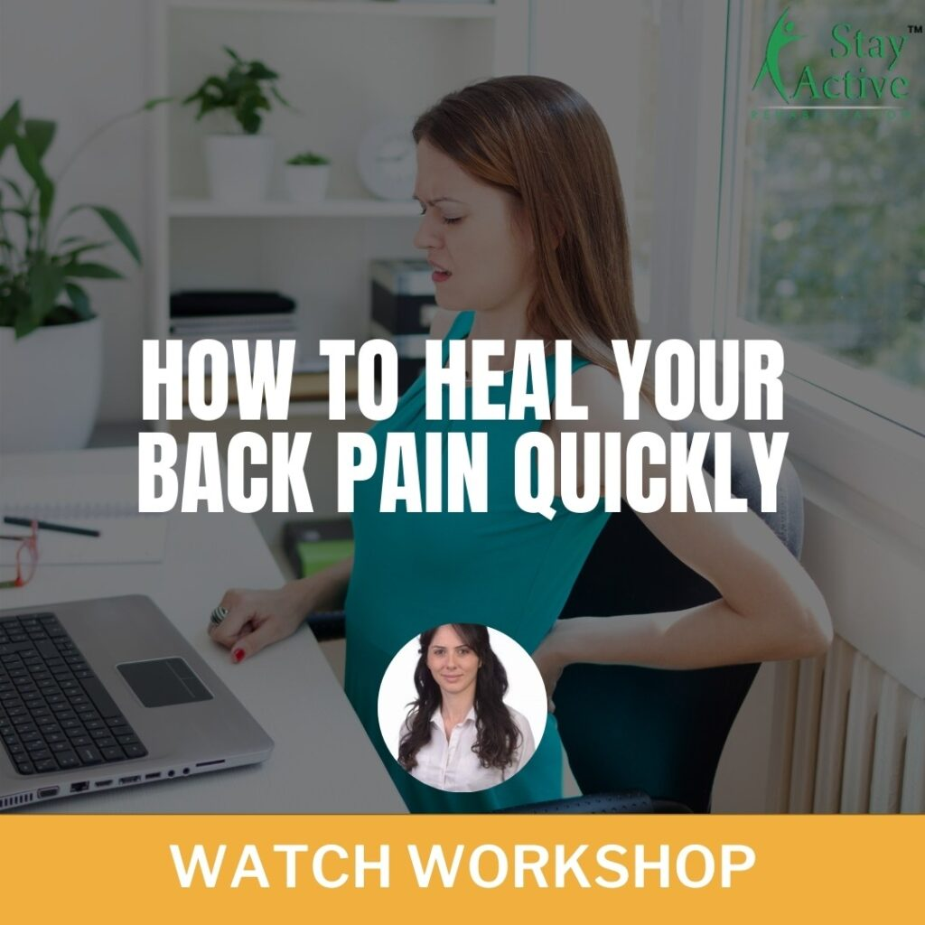 How To Heal Your Back Pain Quickly webinar At Stay Active Rehab